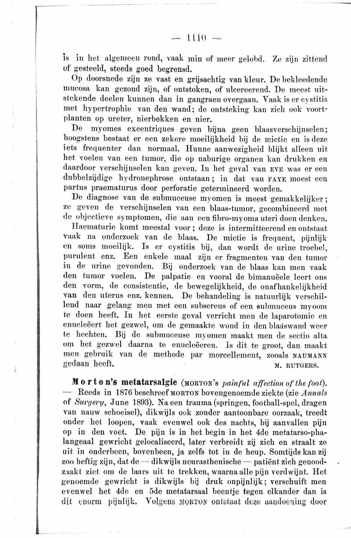 Morton's metatarsalgie | Nederlands Tijdschrift voor Geneeskunde