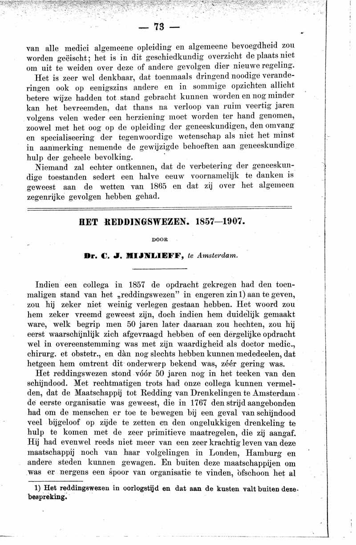 Het reddingswezen 1857-1907