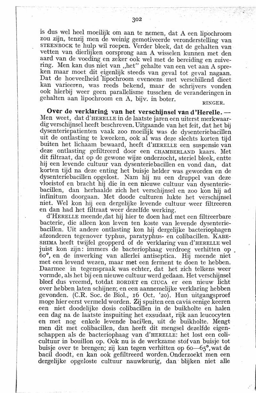 Over de verklaring van het verschijnsel van d'Herelle