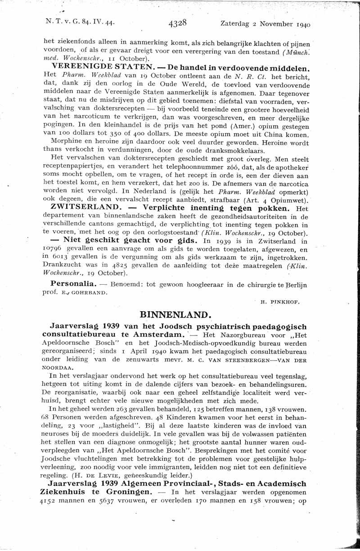 Jaarverslag 1939 Joodsch Psychiatrisch Paedagogisch