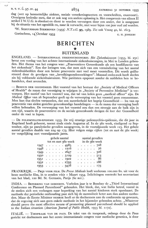 De poliomyelitis-epidemie 1953