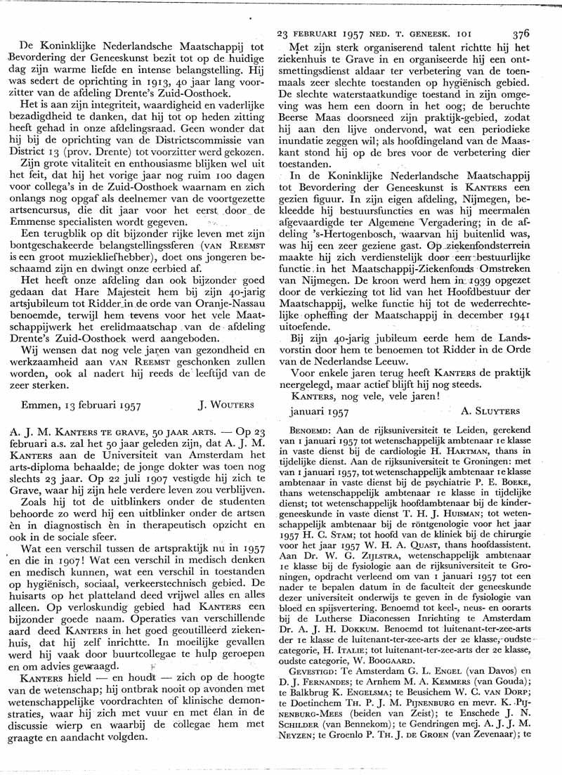 A.J.M. Kanters te Grave, 50 jaar arts