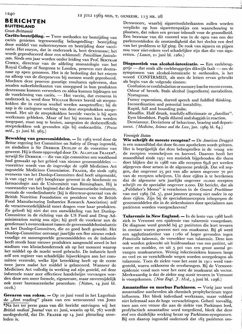 Amantadine en morbus Parkinson