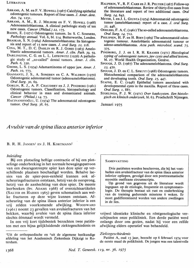 Avulsie van de spina iliaca anterior inferior   Nederlands ...
