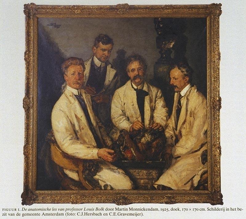 Het schilderij 39 de anatomische les van professor louis bolk 39 door martin monnickendam - Schilderij van gang ...