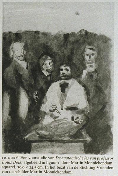 Het schilderij 39 de anatomische les van professor louis bolk 39 door martin monnickendam - Schilderij ingang en gang ...