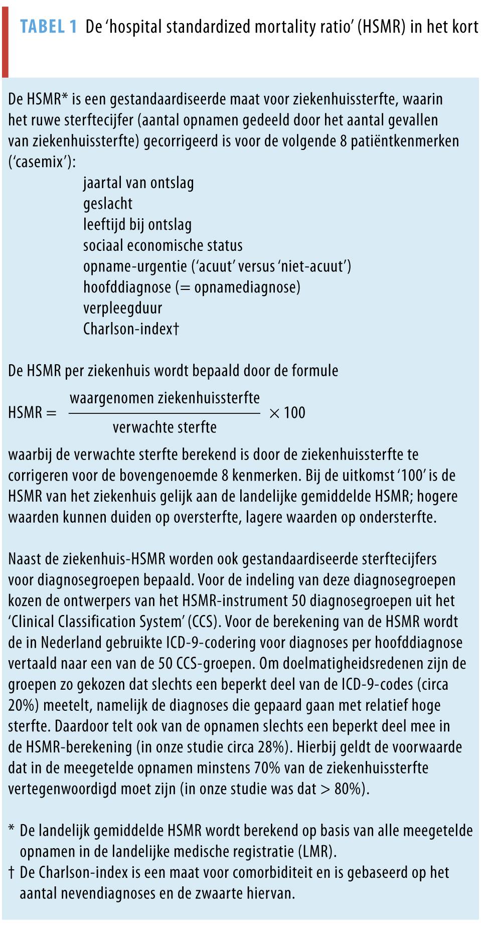 Critici stellen onder meer dat registraties van opnamegegevens in de  Landelijke Medische Registratie (LMR) niet altijd betrouwbaar en consistent  zijn en ...
