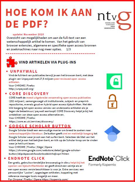 Hoe kom ik aan de pdf?